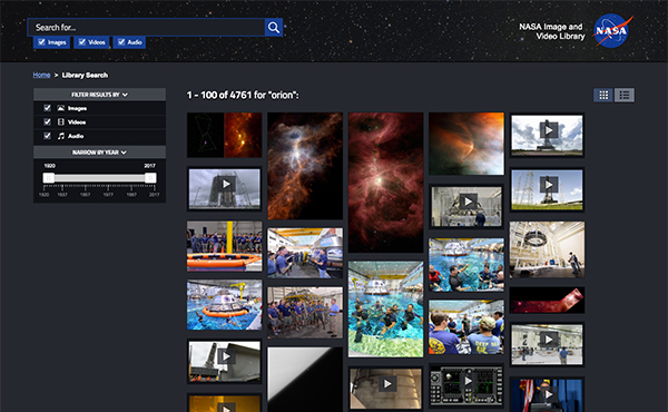 NASA Image and Video Library